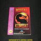 Mortal Kombat - Sega Game Gear - 1993 Manual Only