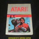 ET The Extra Terrestrial - Atari 2600 - 1982 Manual Only