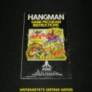 Hangman - Atari 2600 - 1978 Manual Only