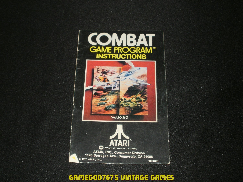 Combat - Atari 2600 - 1977 Manual Only