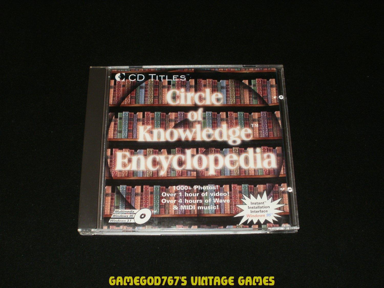 Circle Of Knowledge Encyclopedia - IBM PC - 1996 CD Titles - Complete CIB