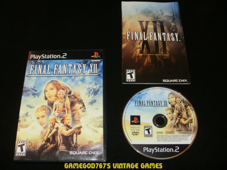 Final Fantasy XII - Sony PS2 - Complete CIB
