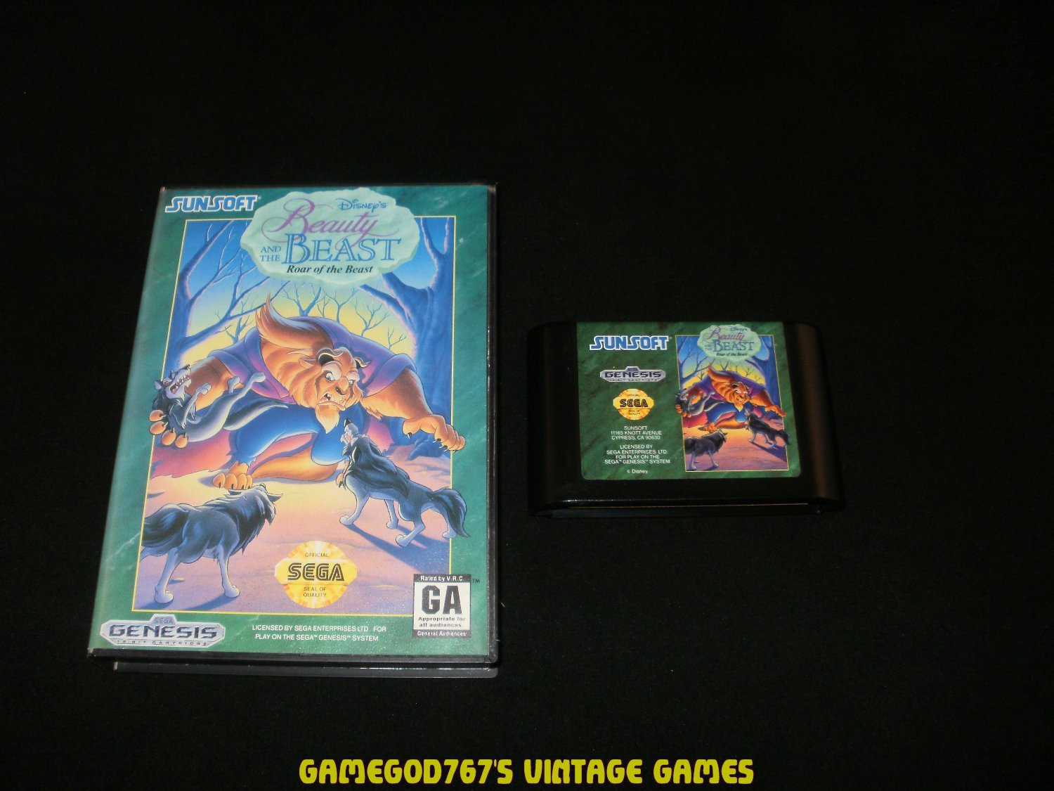 Beauty and the Beast Roar of the Beast - Sega Genesis - With Box