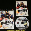 Madden NFL 2003 - Sony PS2 - Complete CIB
