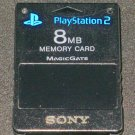 8MB Memory Card - Sony PS2 - Black Official Sony