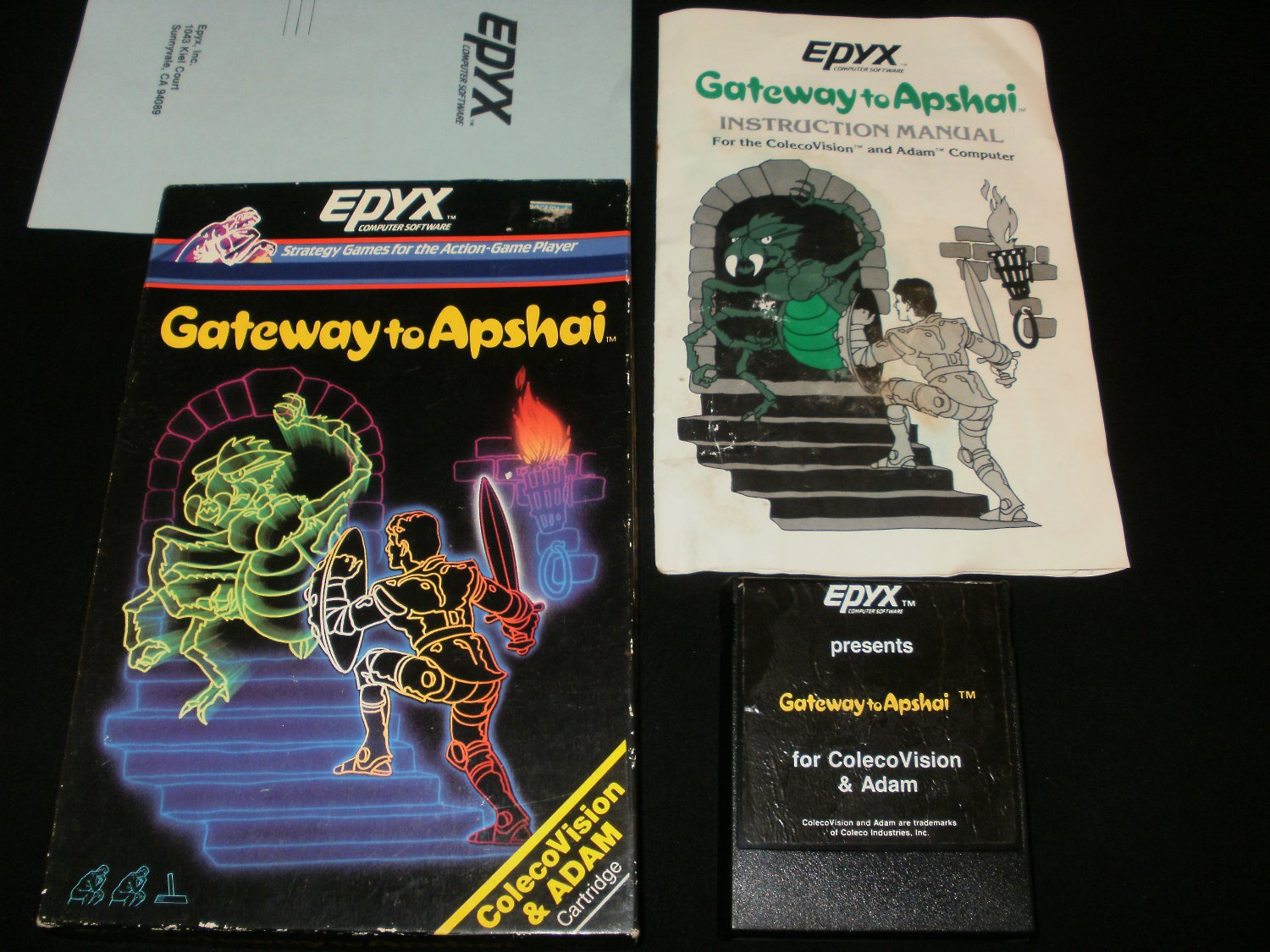 Gateway to Apshai - Colecovision - Complete CIB - Extremely Rare