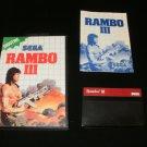 Rambo III - Sega Master System - Complete CIB