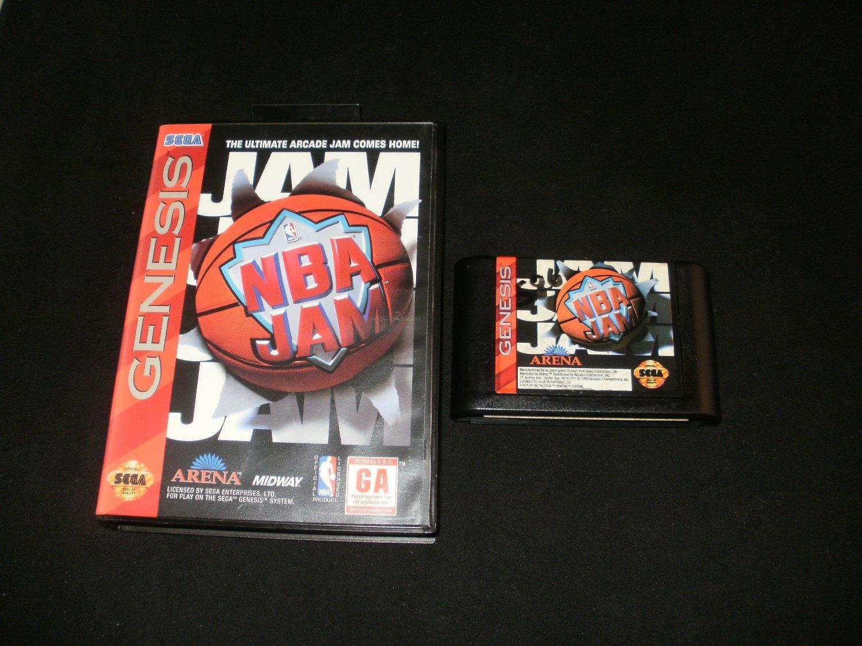 Nba Jam Sega Genesis With Box