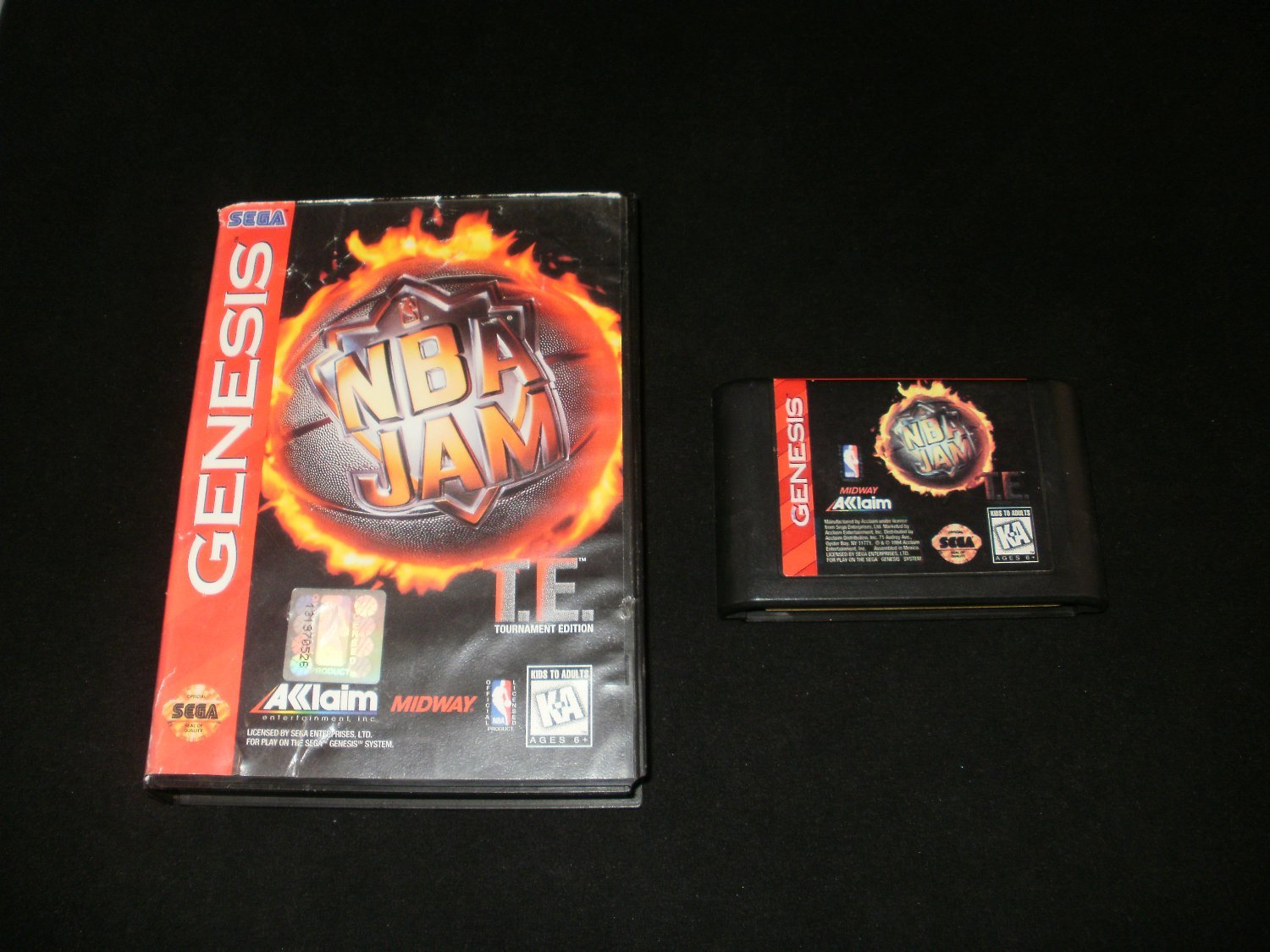 Nba Jam Tournament Edition Sega Genesis With Box