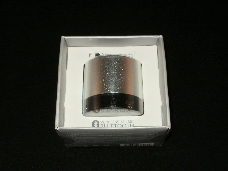 Nakamichi Wireless Music Bluetooth Portable Speaker - Silver BT05S - Brand New