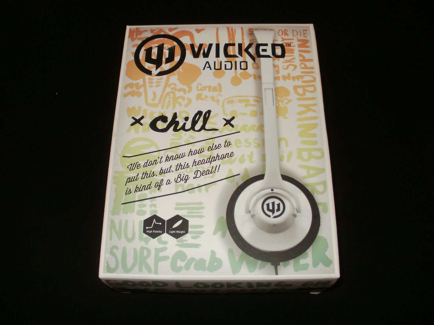 Wicked Audio Chill Headphones - White WI-8002 - Brand New