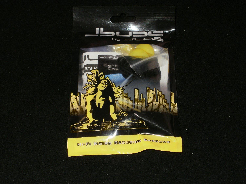 JLab JBuds Hi-Fi Noise-Reducing Ear Buds - Black/Yellow J-BLKYLW-FOIL - Brand New