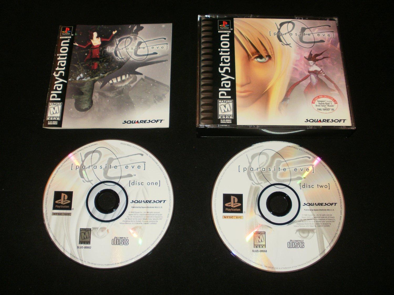 Parasite Eve - Sony PS1 - Complete CIB (Missing Demo Disc) - Original 1998 Black Label Release