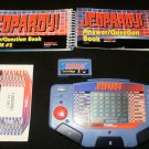 Jeopardy - Vintage Handheld - Tiger Electronics 1995 - With 2 Cartridges, Manuals & Overlay
