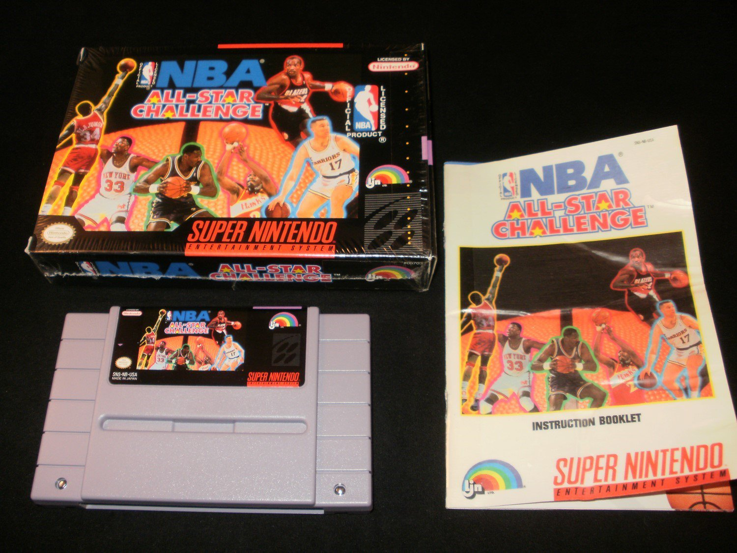 73eb4a59607 NBA All-Star Challenge - SNES Super Nintendo - Complete CIB