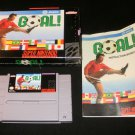 Goal - SNES Super Nintendo - Complete CIB - Rare