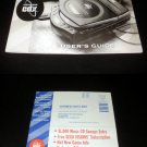 Sega CDX - Manual & Warranty Card Only - Rare