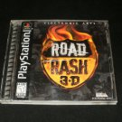 Road Rash 3D - Sony PS1 - Complete CIB - 1998 Black Label Release