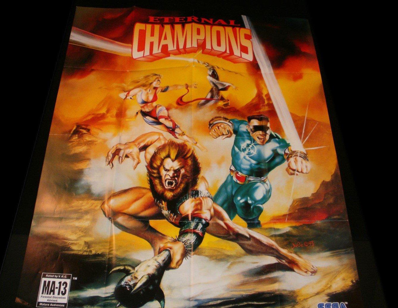 Eternal Champions Poster - Sega Genesis 1993