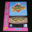 World Series Baseball - Sega Game Gear - 1993 Manual Only