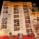Electronic Arts Poster Catalog - Sega Genesis 1993 - Never Used