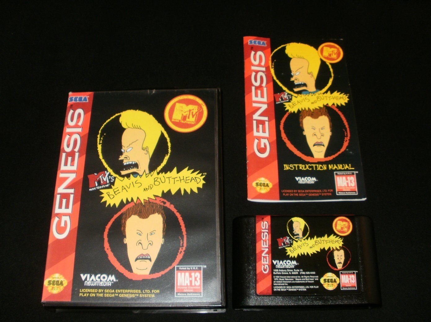 Beavis and Butt-head - Sega Genesis - Complete CIB