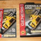 Formula One - Sega Genesis - Manual and Box Only