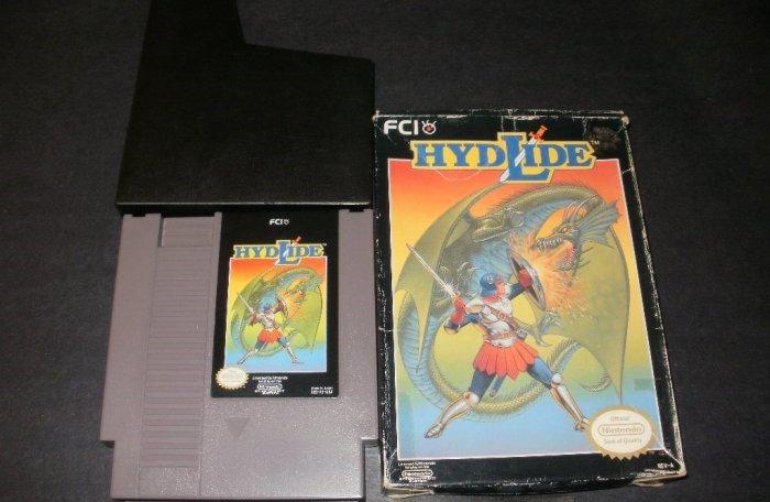 Hydlide - Nintendo NES - With Box & Cartridge Sleeve
