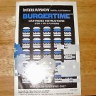 Burgertime - Mattel Intellivision - Manual Only