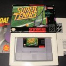 Super Tennis - SNES Super Nintendo - With Box And Pamphlets