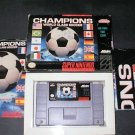 Champions World Class Soccer - SNES Super Nintendo - Complete