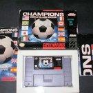 Champions World Class Soccer - SNES Super Nintendo - Complete