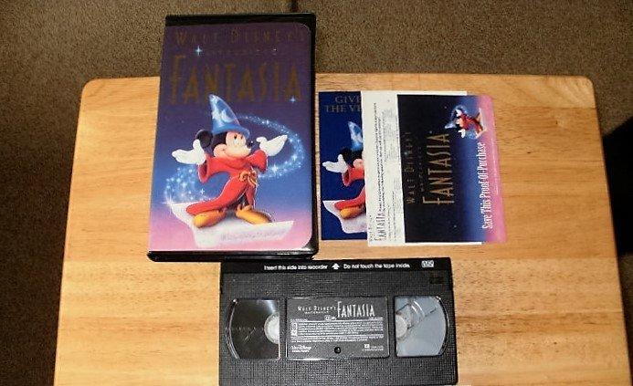 Disney's Fantasia - VHS Movie -  Complete CIB