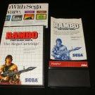 Rambo - Sega Master System - Complete CIB