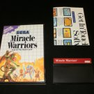 Miracle Warriors - Sega Master System - With Box & Poster