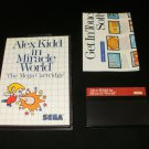 Alex Kidd in Miracle World - Sega Master System - With Box & Poster - Rare