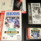 NHL All-Star Hockey 95 - Sega Genesis - Complete CIB