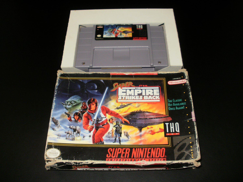Super Star Wars The Empire Strikes Back - SNES Super Nintendo - With Box