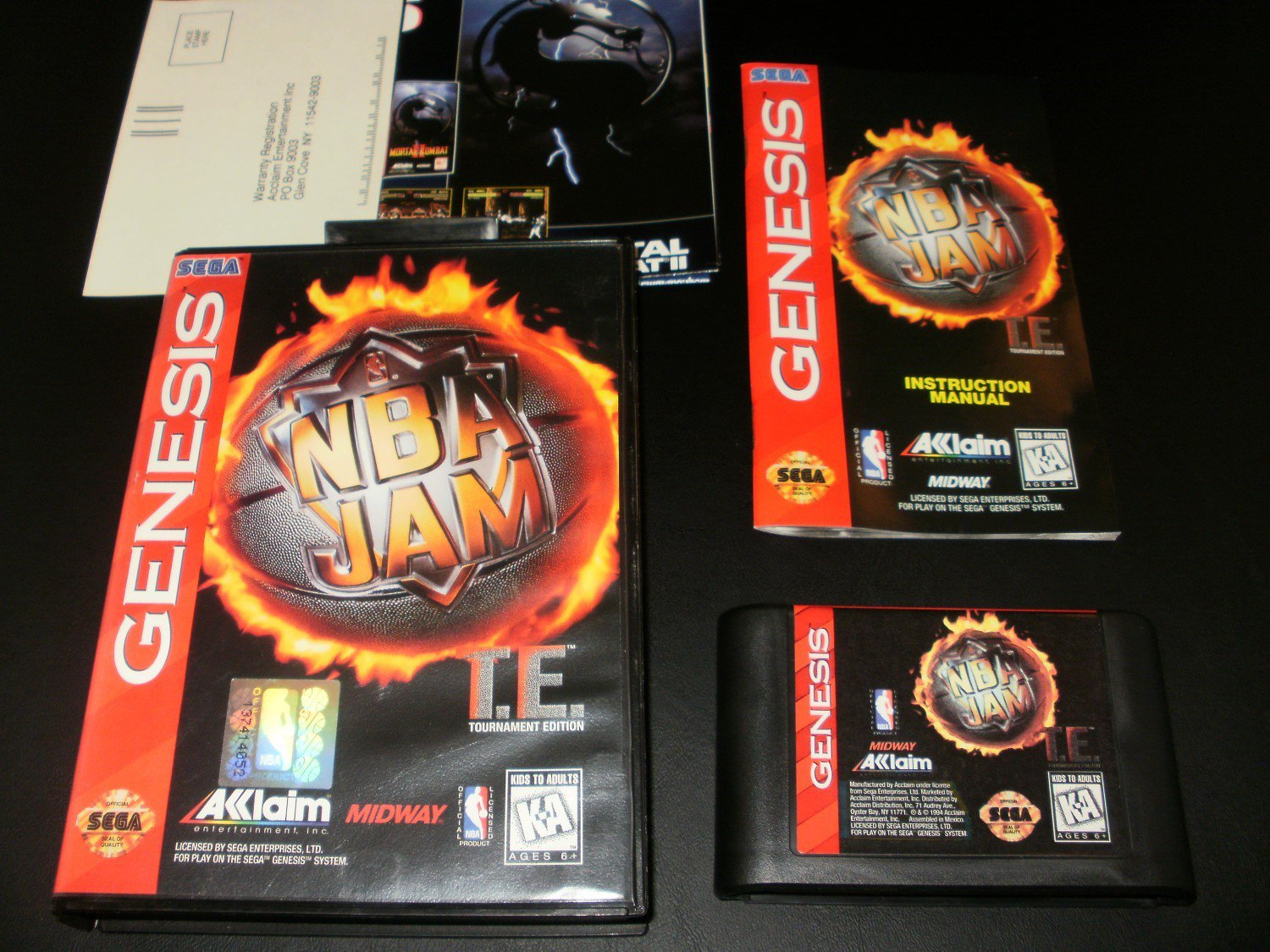 Nba Jam Tournament Edition Sega Genesis Complete Cib