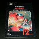 Berzerk - Atari 2600 - Manual Only - Sears Tele-Games Version