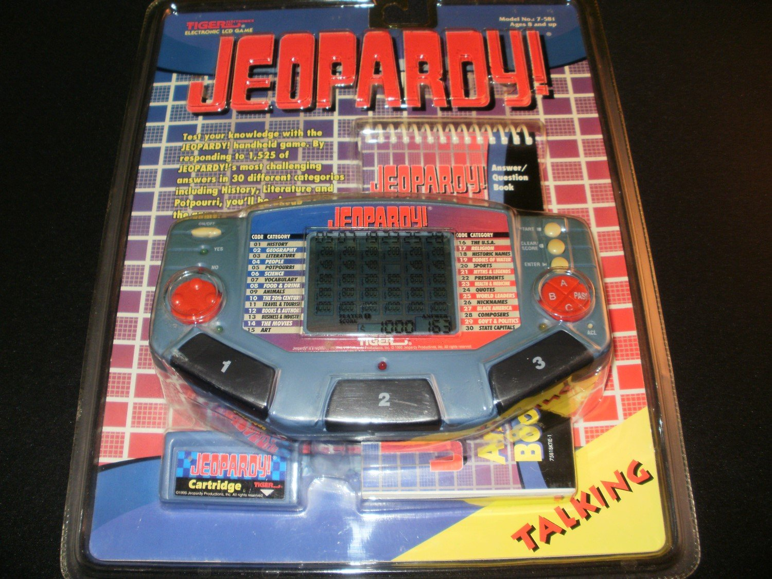 Jeopardy - Vintage Handheld - Tiger Electronics 1995 - New Factory Sealed
