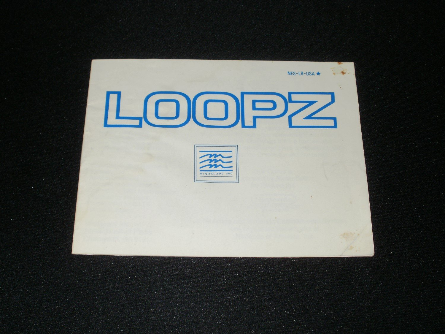Loopz - Nintendo NES - Manual Only