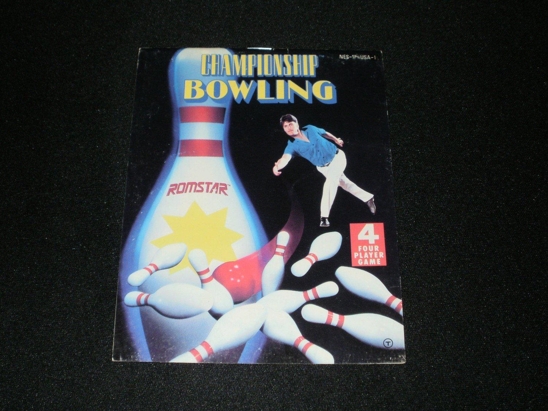 Championship Bowling - Nintendo NES - Manual Only