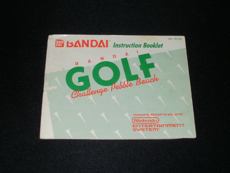 Bandai Golf  - Nintendo NES - Manual Only