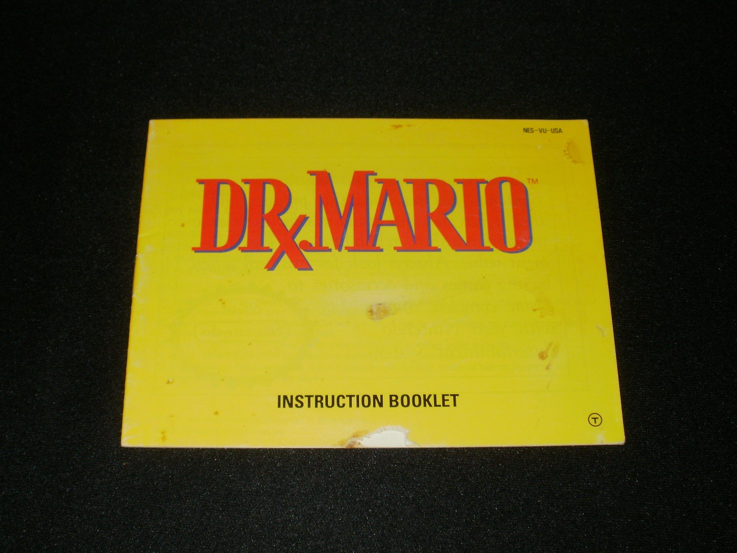 Dr. Mario - Nintendo NES - Manual Only