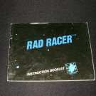 Rad Racer - Nintendo NES - Manual Only