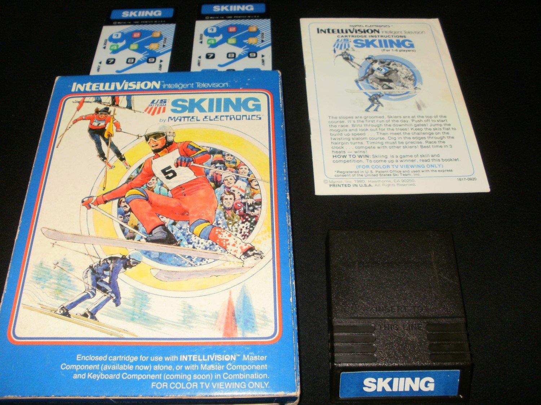 Skiing - Mattel Intellivision - Complete CIB
