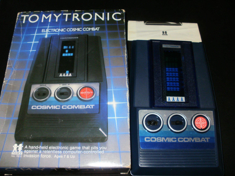Cosmic Combat - Vintage Handheld - Tomy 1980 - Complete CIB - Rare