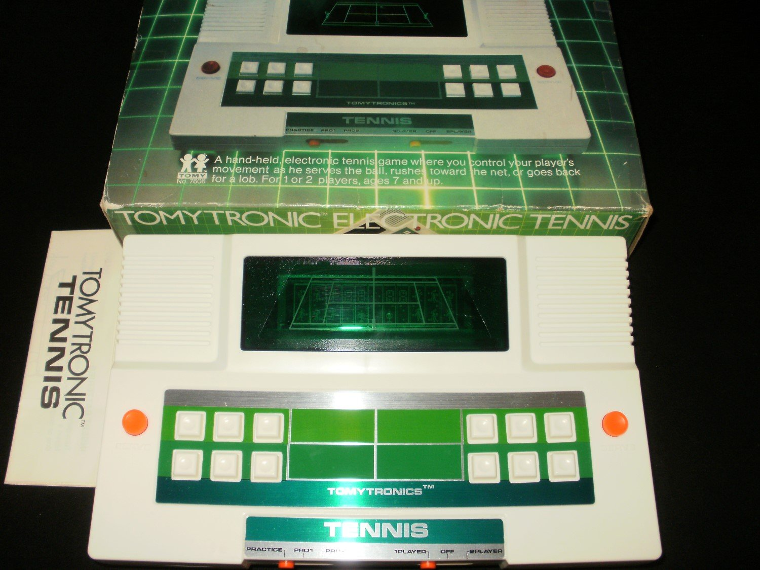 Electronic Tennis - Vintage Handheld - Tomy 1980 - Complete CIB