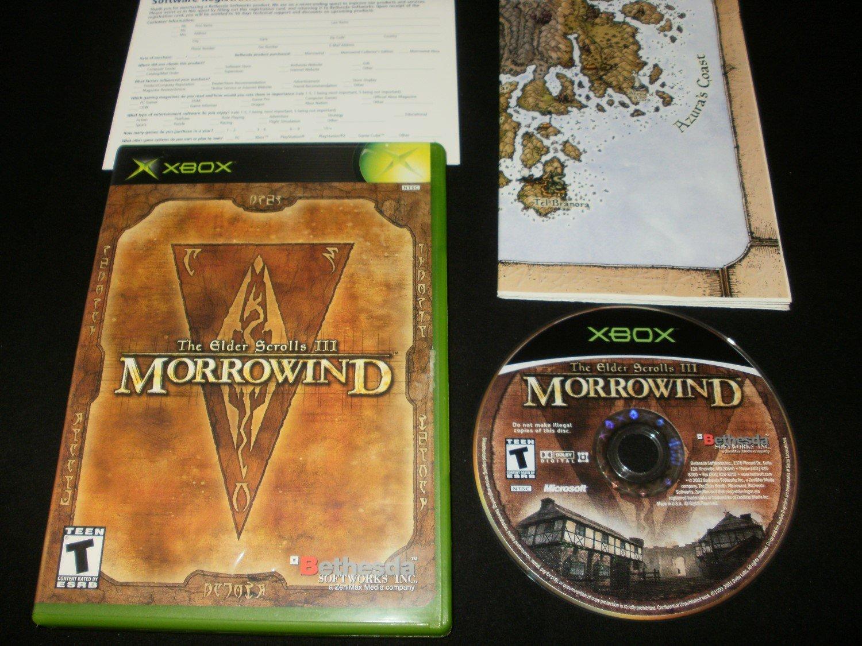 Elder Scrolls III Morrowind - Xbox - With Map & Warranty Card - Original 2002 Release